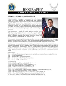 BIOGRAPHY UNITED STATES  AIR