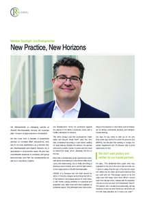 Member Spotlight: Urs Breitsprecher  New Practice, New Horizons Urs Breitsprecher is managing partner at