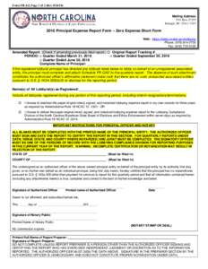 FORM PR-EZ, Page 1 of 2 (RevMailing Address P.O. BoxRaleigh, NC