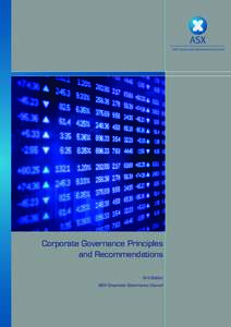ASX Corporate Governance Council  Corporate Governance Principles and Recommendations 3rd Edition ASX Corporate Governance Council