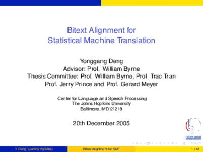 Masters Thesis Proposal: Implementation of English-to-Japanese