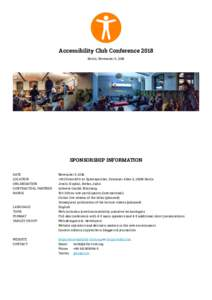 Accessibility Club Conference 2018 — Sponsorshop information