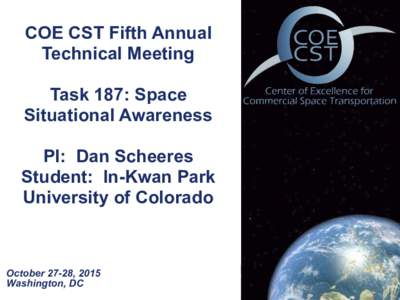 COE CST Fifth Annual Technical Meeting 