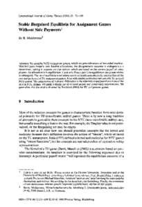 international journal of game theory pdf