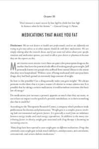 """Chapter 50  """"Don't measure a man's success by how high he climbs but how high  he bounces when he hits bottom."""" —General George S. Patton  Medications That Make You Fat"""