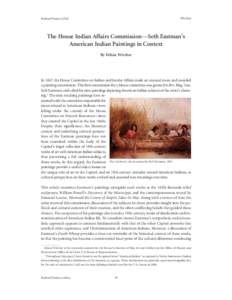 Wivchar  Federal History 2010 The House Indian Affairs Commission—Seth Eastman's American Indian Paintings in Context