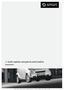 >> Audio system navigation/multimedia. Supplement Nur für internen Gebrauch / For internal use only  Symbols