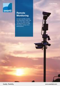 Case Study  Remote Monitoring Ka-band satellite enables live streaming of video and