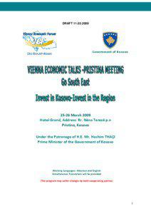 VET-Pristina Meeting Program[removed]