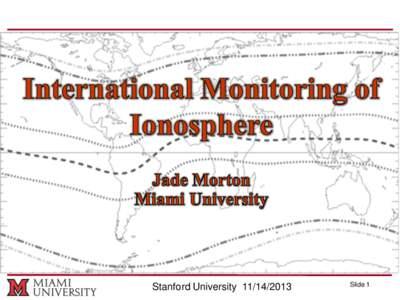 Stanford UniversitySlide 1 Presentation Outline