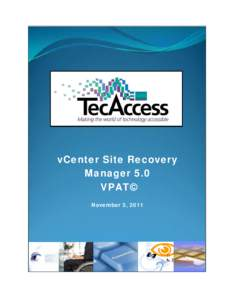 vCenter Site Recovery Manager 5.0 VPAT: VMware, Inc.
