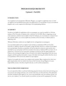 Microsoft Word - Program Requirements