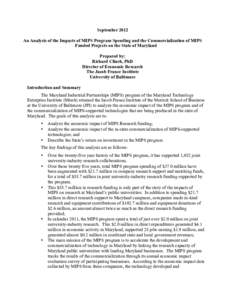 Microsoft Word - JFI MIPS Reportdocx