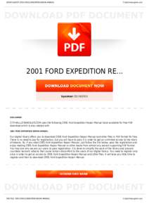 BOOKS ABOUT 2001 FORD EXPEDITION REPAIR MANUAL  Cityhalllosangeles.com 2001 FORD EXPEDITION RE...