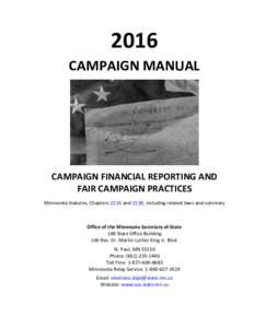 2016 Minnesota Campaign Manual
