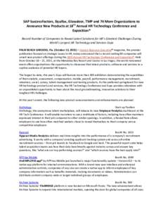 Microsoft Word - HR Tech New Products Press Release FINAL